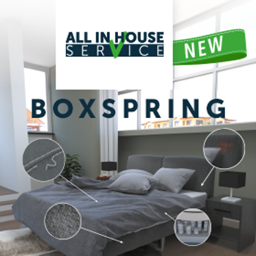 Oranje 'All in House' serviceconcept voor boxsprings